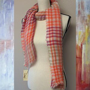 Womens PINK PLAID PLEATED WRAP by COLLECTION18